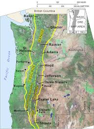 Oregon Map Us by Cascade Mountain Range In Oregon