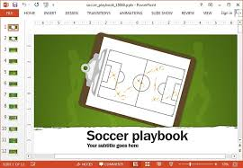 soccer powerpoint template and animations