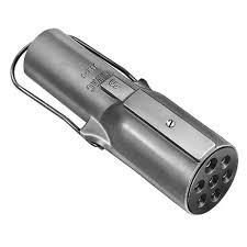 velvac 591010 7 way round to 6 way round plug adapter
