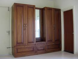 Armoire With Mirrored Front Furniture Vintage Wooden Wardrobe Armoire With Rectangle Mirror