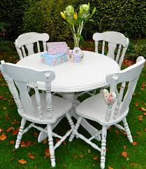 shabby chic round table shabby chic round pedestal dining table and 4 chairs norfolk