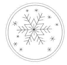 simple snowflake pattern with year space craft pinterest