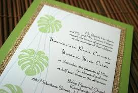 wedding invitations hawaii hawaiian wedding invitations gangcraft net