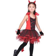 Devil Halloween Costumes Kids Punk Keychain Picture Detailed Picture Kids Red Devil