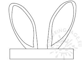 bunny ears coloring page easter bunny ears template crafts coloring page