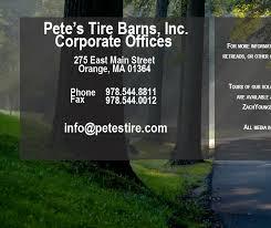 Pete S Tire Barn Orange Ma Contact