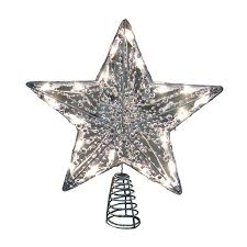 shop christmas central plastic star christmas tree topper with