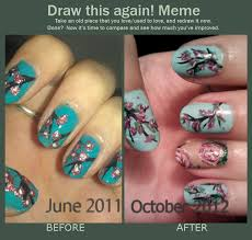 Nail Art Meme - draw this again cherry blossom nail art by kahlz on deviantart
