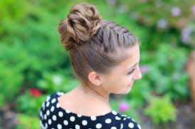 cool hairstyles for girls double french braids bun updo and