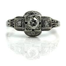 the blog at vintagediamondrings com art deco engagement rings