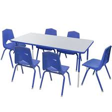 activity table and chairs marco group one youth 24 x 48 rectangle activity table six 12