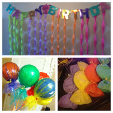 candy decorations beach balls color wrap or balloons clear wrap