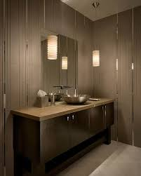 picture of beige bathroom decoration using white cylinder