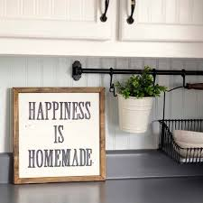 happiness is homemade handpainted sign handmade 12x12 wall sign