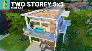 the sims 4 house building two storey 5x5 youtube