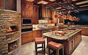 Wooden Kitchen Interior Design Eye Friday Rustic Glam Kitchens Kitchens Wood Burning