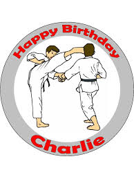 karate cake topper martial arts personalised edible cake topper 245