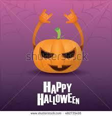 set halloween concepts vector illustration orange stock vector