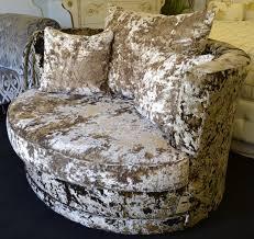 bespokez ltd crushed velvet chloe swivel or cuddle chair