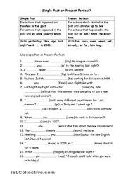 best 25 present perfect tense exercises ideas on pinterest