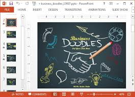 doodle presentations animated business doodle timeline template for powerpoint
