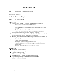 Sample Resume Of Executive Assistant by Job Description For Administrative Assistant For Resume Free