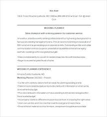 sample resume for event manager event planner resume sample resume