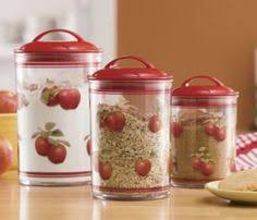 apple canisters for the kitchen fruit themed decorations ideas and functional accessories apple
