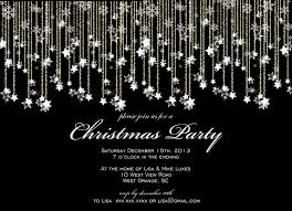 formal christmas lights snowflakes party printable invitation