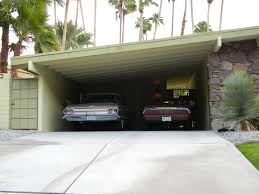 digging these cars in the carport of a palm springs mid century