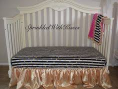 Black And Gold Crib Bedding Inspiration A Fleece Blanket With Gold Polka Dots