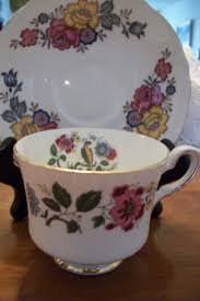 vintage royal stafford pussywillow bone china tea cup and saucer
