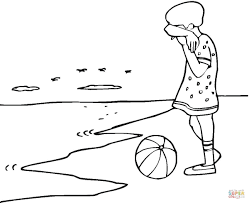 sad on the beach coloring page free printable coloring pages