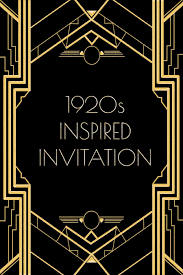 use this 1920s inspired invitation template for a gatsby or