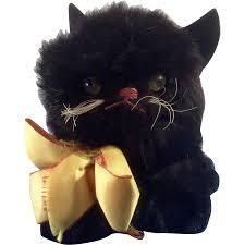 halloween cat png adorable vintage black cat halloween doll pet 1930 1950s real