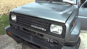 daihatsu jeep 1990 rocky daihatsu se youtube