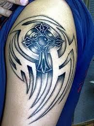 70 adorable cross tattoos on shoulder
