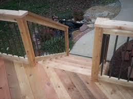 home decor cedar deck railing with deckorators balusters in st
