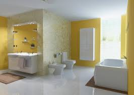 Grey And Yellow Bathroom Ideas Astounding Yellow And Grey Bathroom Ideas With Floating Vanity
