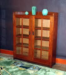Stickley Bookcase Voorhees Craftsman Mission Oak Furniture Gustav Stickley 2 Door