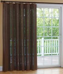 Curtains For Sliding Doors Banded Bamboo Panel Family Room Sliding Glass Door Home Is