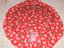 glass plate covered with christmas fabric keeping it simple crafts