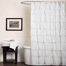 bathroom ivory ruffle shower curtain for lovely bathroom