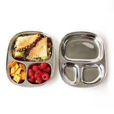 tray plates eco kid s tray stainless steel divided plate by ecolunchbox