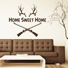 wall decal quotes home sweet home deer horn by decalsfromdavid