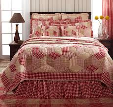 breckenridge red plaid value quilt set