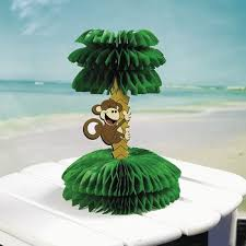 luau decorations beach monkey and tree centerpiece