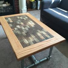Diy End Grain End Table This Commissioned Coffee Table Is Finally Home It Is Made Of Oak