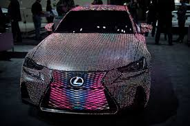 lexus jobs ny first look at the lexus lit is sedan covered in 41 999 leds