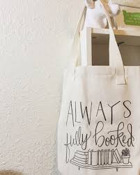 tote bag always fully booked tote bag book bag book lover